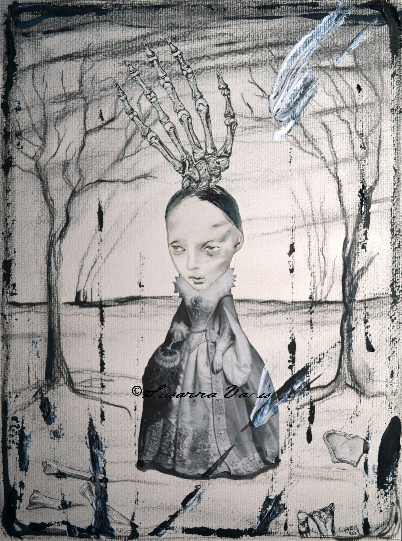 Little Skeleton Countess mixed media 2013 50 text