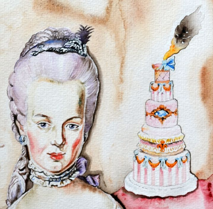 Marie Antoinette With the Exploding Pastry detail 50