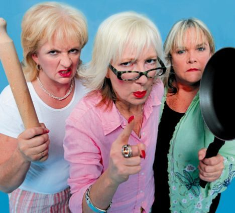 Grumpy old Women no fee free picture publicity 2006 April Touring Play theatre