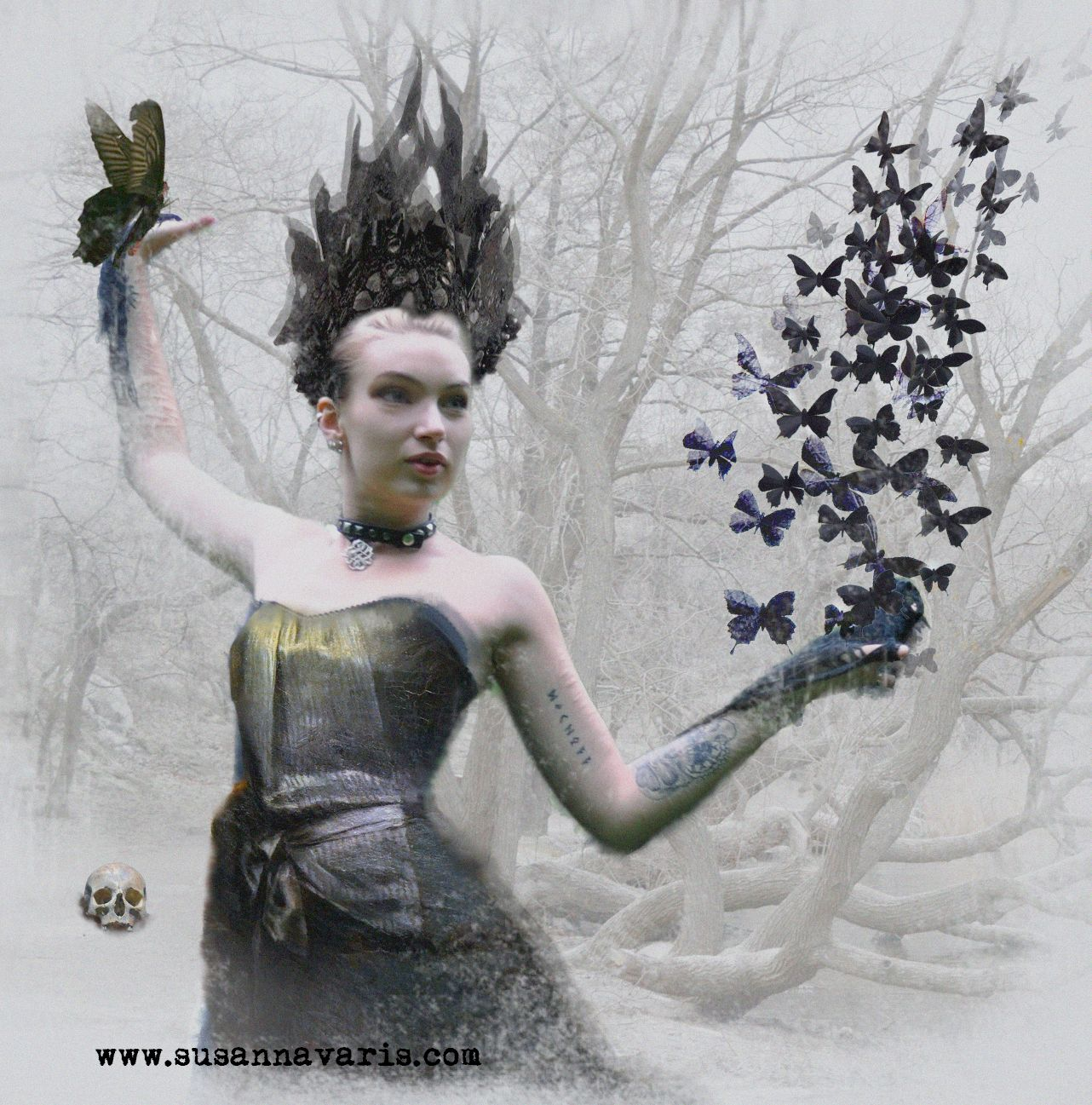 Black Butterfly Queen 2014 png kornig text