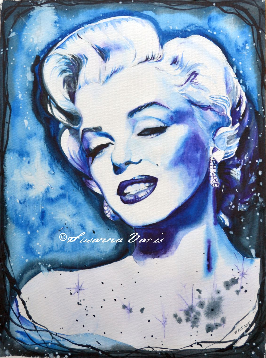 Blue Marilyn water color 2015 adj 50 text